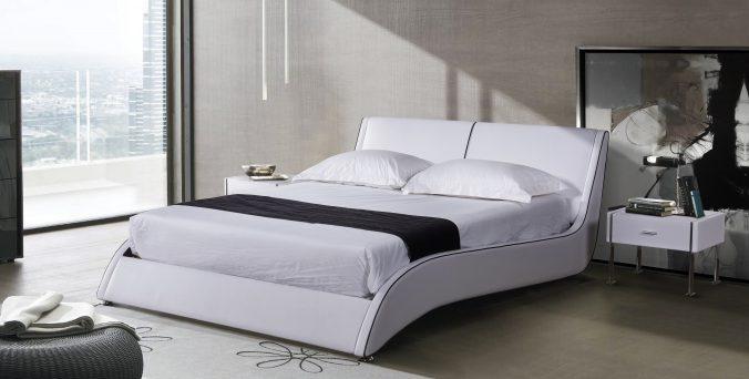 מיטה דגם גל - לבן
