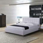 מיטה דגם ריבועים - לבן