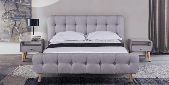 מיטה דגם פרובנס - אפור