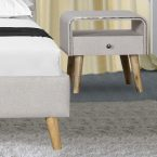 מיטה דגם ספיר - שמנת