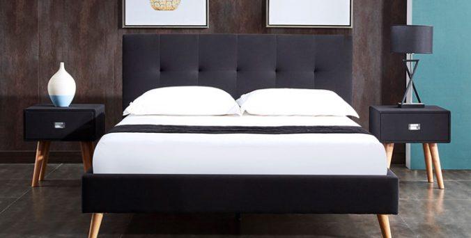 מיטה דגם בייסיק - שחור
