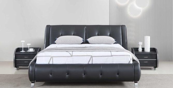 מיטה דגם אבניו - שחור