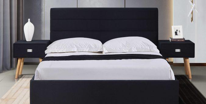 מיטה דגם עדן + ארגז מצעים - שחור