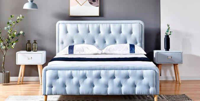 מיטה דגם ברצלונה - תכלת