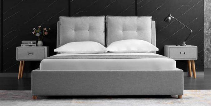 מיטה דגם קומפורט - ארגז מצעים (אפור)
