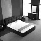 מיטה דגם סילבר - שחור קטיפה