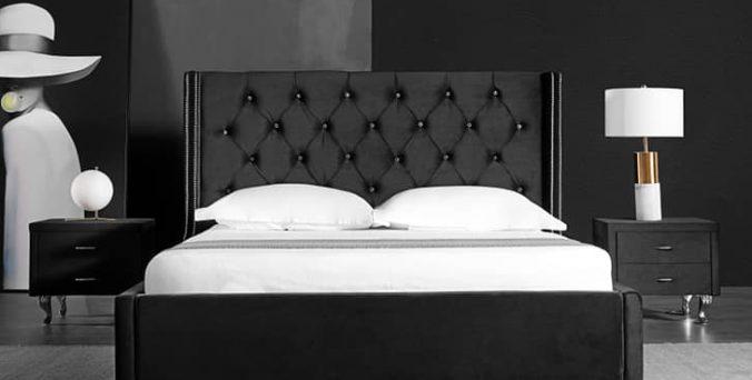 מיטה דגם הוליווד - שחור