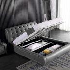 מיטה דגם קינג + ארגז מצעים (אפור)