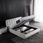 מיטה דגם קינג + ארגז מצעים (לבן)