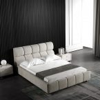 מיטה דגם סילבר - שמנת קטיפה
